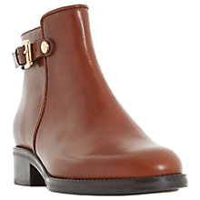Buy Dune Polley Block Heeled Ankle Boots, Brown Online at johnlewis.com