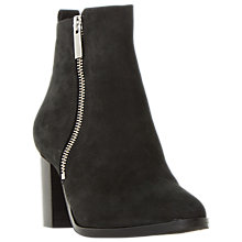 Buy Dune Black Passage Block Heeled Ankle Boot, Black Online at johnlewis.com