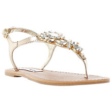 Buy Steve Madden Jackie Toe Post Embellished Sandals, Rose Gold Online at johnlewis.com