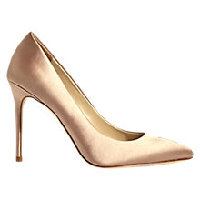 Buy Karen Millen Satin Stiletto Heeled Court Shoes Online at johnlewis.com
