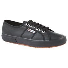 Buy Superga A09 Lace Up Plimsolls, Black Online at johnlewis.com