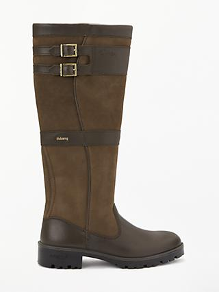 Dubarry Longford Leather Goretex Buckle Trim Knee High Boots, Walnut