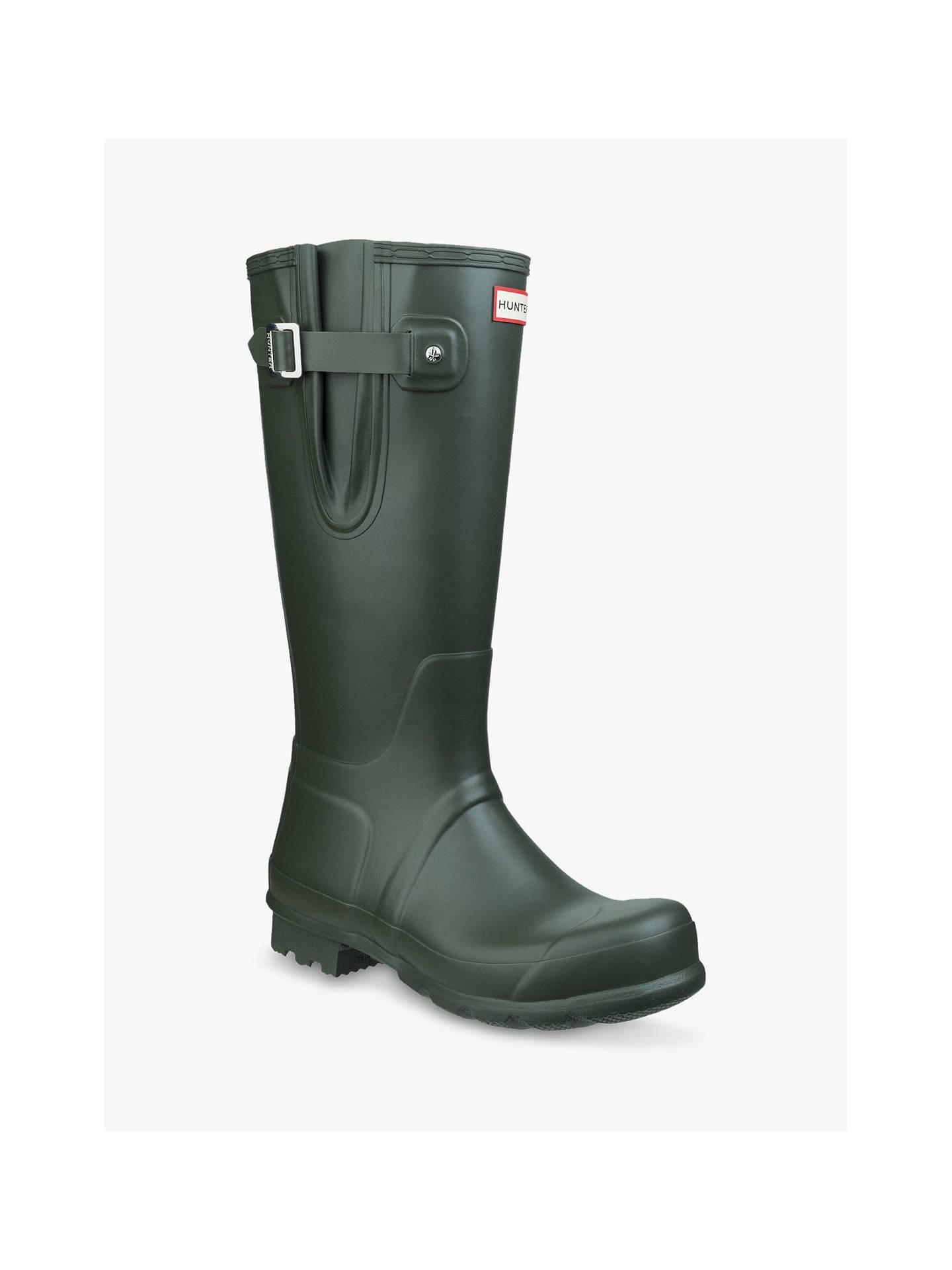 ... BuyHunter Boots Adjust Waterproof Wellington Boots, Dark Olive, 7 Online at johnlewis.com ...