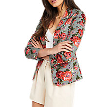 Buy Oasis Rose Print Suit Jacket, Multi Online at johnlewis.com