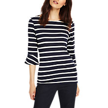 Buy Phase Eight Bronwen Stripe Top, Navy/Ivory Online at johnlewis.com