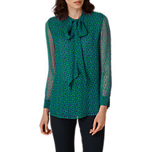 Buy L.K Bennett Rudy Printed Silk Blouse, Green Online at johnlewis.com