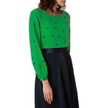 Buy L.K. Bennett Teka Silk Printed Top, Green Online at johnlewis.com