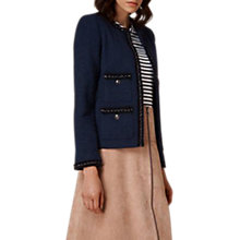 Buy L.K. Bennett Halyna Trim Tweed Jacket, Navy Online at johnlewis.com