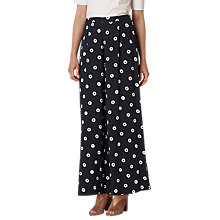 Buy L.K. Bennett Taylor Printed Trousers, Navy Online at johnlewis.com