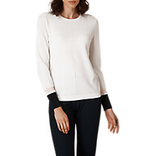Buy L.K. Bennett Della Tipped Jumper, Cream Online at johnlewis.com