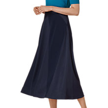 Buy L.K. Bennett Babette Satin Back Skirt, Navy Online at johnlewis.com