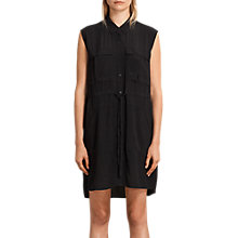 Buy AllSaints Millie Sleeveless Dress, Black Online at johnlewis.com