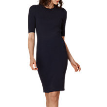 Buy L.K. Bennett Tomasi Ribbed Knit Dress, Navy Online at johnlewis.com