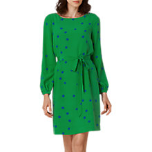 Buy L.K. Bennett Teka Silk Printed Dress, Green Online at johnlewis.com