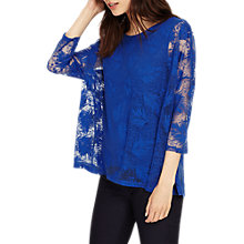 Buy Phase Eight Barney Burnout Top, Cobalt Online at johnlewis.com