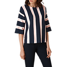 Buy L.K. Bennett Floretta Stripe Jumper, Blue/Cream Online at johnlewis.com