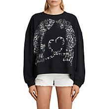 Buy AllSaints Benin Lo Sweatshirt, Black Online at johnlewis.com