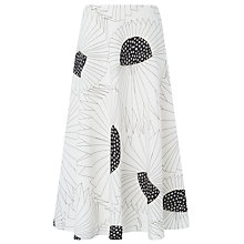 Buy L.K. Bennett Meghan Printed Skirt, Black/White Online at johnlewis.com