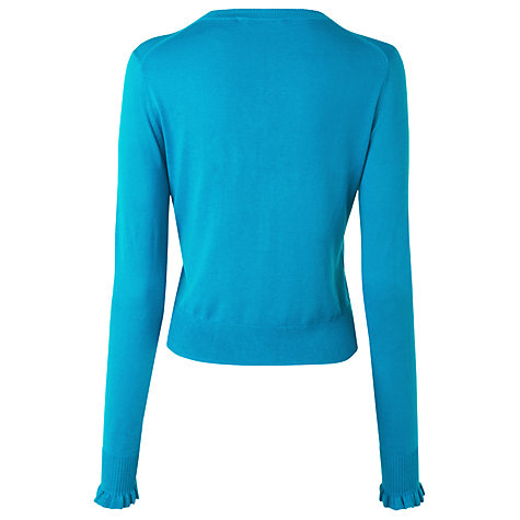 Buy L.K. Bennett Annora Frill Placket Cardigan, Blue Online at johnlewis.com