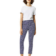 Buy Warehouse Woodblock Trousers, Black Online at johnlewis.com