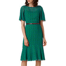 Buy L.K. Bennett Rudy Silk Printed Dress, Green Online at johnlewis.com