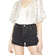 Buy Miss Selfridge Shimmer Jacket, Gold Online at johnlewis.com