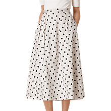 Buy L.K. Bennett Octavia Printed Skirt, White Online at johnlewis.com