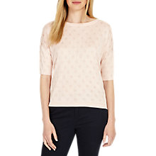 Buy Phase Eight Sedona Spot Jacquard Jumper, Pink Blush Online at johnlewis.com