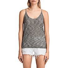 Buy AllSaints Blyth Striped Vest Top, Black/White Online at johnlewis.com