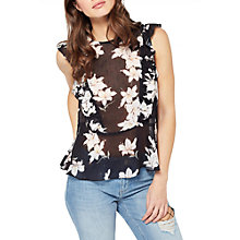 Buy Miss Selfridge Floral Dobby Shell Top, Multi Online at johnlewis.com
