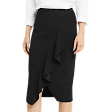 Buy Oasis Ruffle Pencil Skirt, Black Online at johnlewis.com