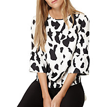 Buy Damsel in a dress Hide Print Blouse, Ivory/Black Online at johnlewis.com