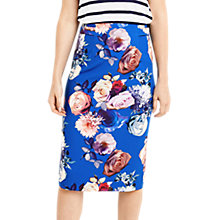 Buy Oasis Pencil Skirt, Multi/Blue Online at johnlewis.com