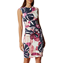 Buy Karen Millen Flower Dress, Pink/Purple Online at johnlewis.com