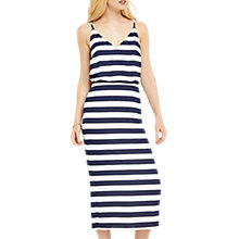 Buy Oasis Tie Back Midi Dress, Stripe Online at johnlewis.com