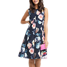 Buy Oasis Rose Ladder Trim Skater Dress, Multi/Blue Online at johnlewis.com