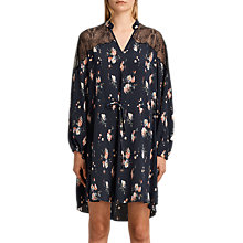 Buy AllSaints Laya Meadow Dress, Mystic Blue Online at johnlewis.com