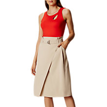 Buy Karen Millen Paper Bag Skirt, Neutral Online at johnlewis.com