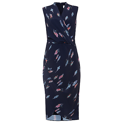 Damsel in a dress Feather Print Dress, Navy/Multi