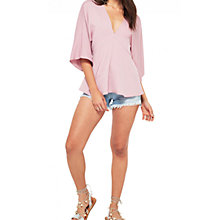 Buy Miss Selfridge V-Neckline Kimono Top, Pink Online at johnlewis.com