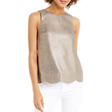 Buy Oasis Metallic Scallop Shell Top, Rose Gold Online at johnlewis.com