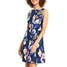 Buy Oasis Ladder Trim Skater Dress, Multi/Blue Online at johnlewis.com