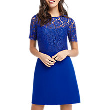 Buy Oasis Lace Bodice Shift, Mid Blue Online at johnlewis.com