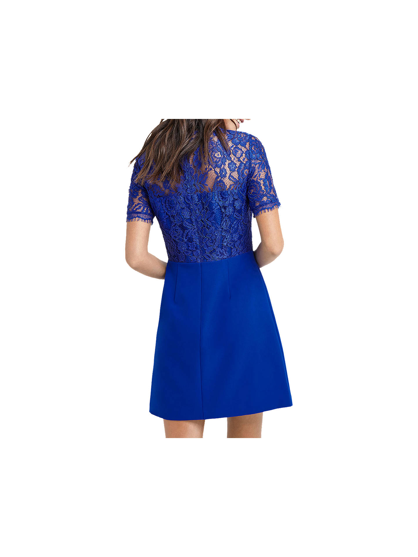 a2899c6a63d8 ... Buy Oasis Lace Bodice Shift Dress, Mid Blue, 6 Online at johnlewis.com  ...