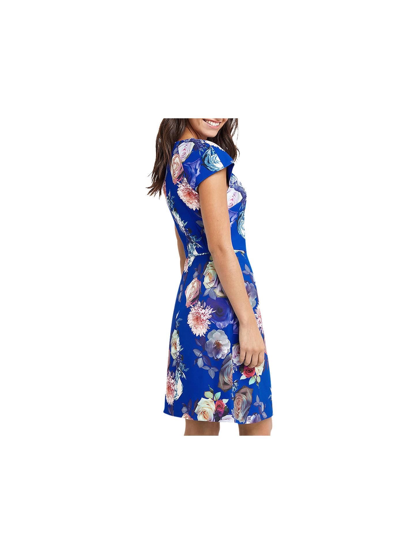 f1df687048f3 ... Buy Oasis Rose Short Sleeve Shift Dress, Multi/Blue, 6 Online at  johnlewis ...