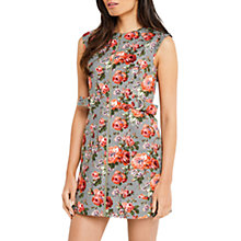 Buy Oasis Rose Print Textured Shift Dress, Multi Online at johnlewis.com