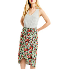Buy Oasis Rose Two-In-One Dress, Multi/Green Online at johnlewis.com