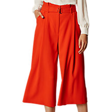 Buy Karen Millen Paper Bag Culottes, Orange Online at johnlewis.com