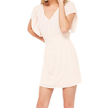 Buy Miss Selfridge Petite Ruffle Sleeve Dress, Pink Online at johnlewis.com
