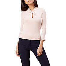 Buy Hobbs Amber Top, Blossom pink Online at johnlewis.com